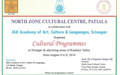 Cultural Program at Srinagar, Jammu & Kashmir
