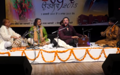 "Renowned Artist Rajinder Gill performing Ghazals at ""SHAM – E – GHAZAL"" Chandigarh"