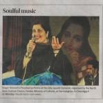 Bhajan Sandhya by Anuradha Paudwal Chd. Tribune 22.12.15
