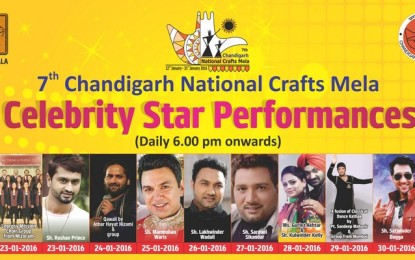 Celebrity Star Performances – 7th Chandigarh National Crafts Mela at Kalagram, Chandigarh.