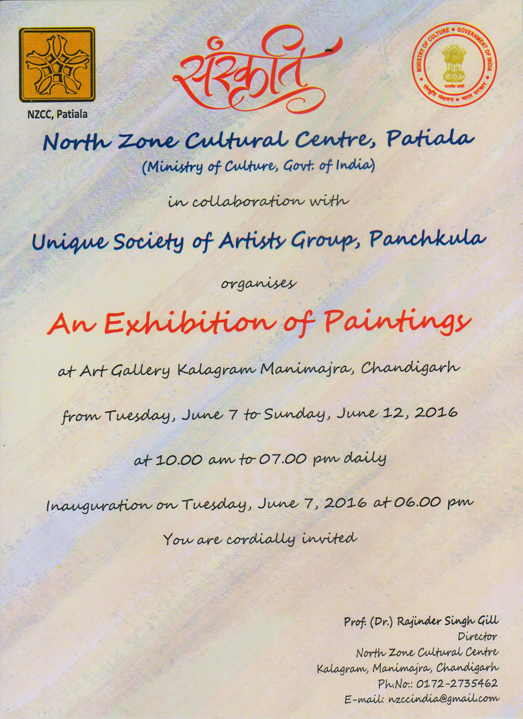 North Zone Cultural Centre Painting Exhibition At Kalagram