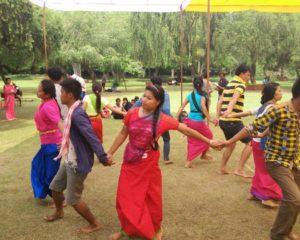 The Choreographed presentation of folk tribal dances and folk singing programme
