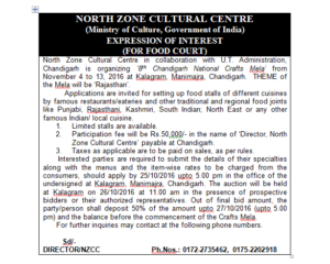EXPRESSION OF INTEREST (FOR FOOD COURT)