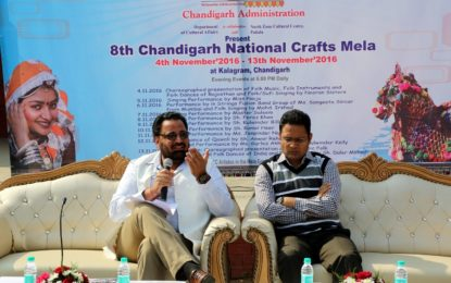 Press Conference – '8th Chandigarh National Crafts Mela' at Kalagram, Chandigarh on November 1, 2016.