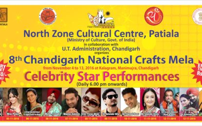 Celebrity Star Performers – '8th Chandigarh National Crafts Mela' at Kalagram, Chandigarh