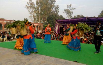 Outreach programme during 'International Gita Mahotsav' at village Jyotisar Dist. Kurukshetra, Haryana on December 10, 2016.
