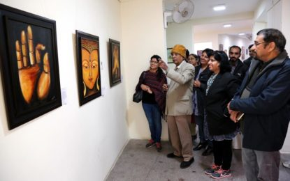 Inauguration of 'Kaladhara' – Annual Art Exhibition at Art Gallery, Kalagram, Chandigarh on 28th December 2016