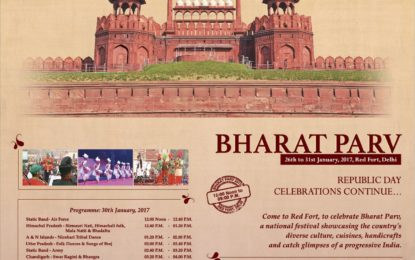 Program schedule of 5th Day of BharatParv2017 at Red Fort, New Delhi.