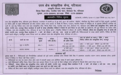 Short Term Tender Notice – 'Octave-2017' at Bhilwara, Rajasthan
