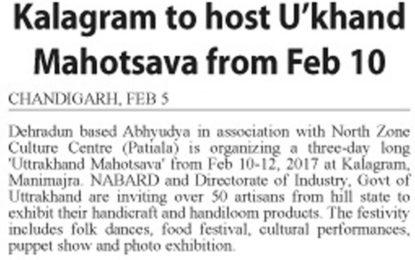Press Clippings – 'Uttrakhand Mahotsav' organised by NZCC in association with Dehradun based Abhyudya