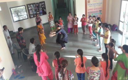 Children performing Punjabi Folk dance 'Gidha' during Summer Workshops