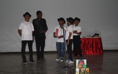 Children Performing during Closing of Magic & Puppet Workshops organised by NZCC, Patiala