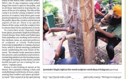 Press Clipping-(25-6-17) – Sculpture Camp (Wood)