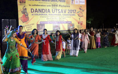 Some Glimpses of Day-4 of Dandia Utsav – 2017 being organised by NZCC from 21st to 30th Sept. 2017 at Kalagram, Manimajra, Chandigarh