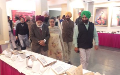 Inauguration of Exhibition of Rare Artefacts, Coins, Heritage Paintings during SARAS Mela – 2018, on 22/02/2018 at NZCC Complex Virsa Vihar Kendra, Patiala