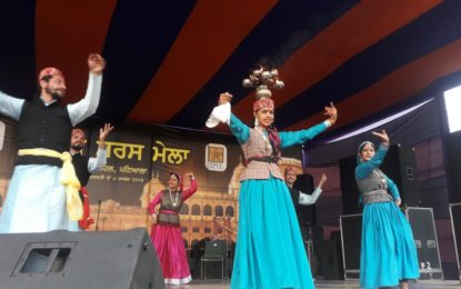 Glimpses of Cultural Presentations organised by NZCC on Day-3rd (23/02/2018) of SARAS Mela-2018 being organised from February 21 to March 4, 2018 at Sheesh Mahal Patiala