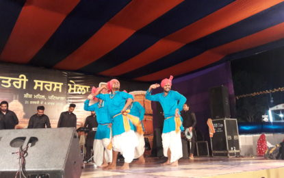 Presentations by the renowned Sufi singer Sh. Manak Ali and Folk artists organised by North Zone Cultural Centre, Patiala on Day 4th (24/02/2018)  of SARAS Mela 2018 to be held at Sheesh Mahal from February 21 to March 4, 2018.