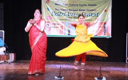 Performance by Kathak Exponents duo Kajal Misra Roy and Trina Roy today on 23/03/2018 during 'Kathak Dance Festival' organised jointly by the North Zone Cultural Centre, Patiala (Ministry of Culture, Govt. of India) and Chandigarh Sangeet Natak Akademi at Navrang Theatre Bal Bhawan, Sector 23, Chandigarh.