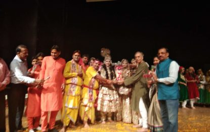 North Zone Cultural Centre, Patiala (Ministry of Culture, Govt. of India) in collaboration with Chandigarh Sangeet Natak Akademy, Chandigarh organised programme of folk dances at Tagore Theatre, Chandigarh on 26th April, 2018.