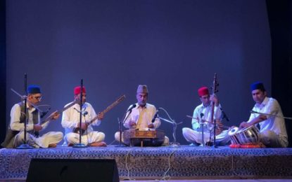 Glimpses of 1st day (28/04/2018) of 'Mehfil e Sufiyana' being organised by North Zone Cultural Centre, Patiala from April 28 to 29, 2018 at Tagore Hall, Srinagar.