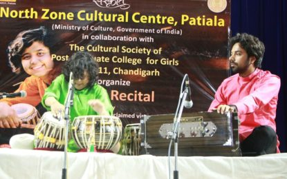 North Zone Cultural Centre, Patiala(Ministry of Culture, Government of India) in collaboration with The Cultural Society of Post Graduate College for girls, Sector 11, Chandigarh organised Tabla Recital by Internationally acclaimed virtuoso Rimpa Siva (The Princess of Tabla, Farrukhabad Gharana) today i.e. on April 2, 2018 at auditorium of Post Graduate College For Girls Sector 11, Chandigarh. Some Glimpses are as under:
