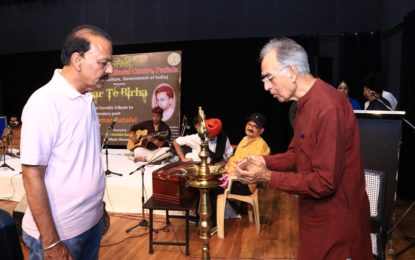 Glimpses of 'Akhar Te Birha'- A musical tribute to legendery poet Shiv Kumar Batalvi organised by North Zone Cultural Centre, Patiala(Ministry of Culture, Govt. of India) at Mini Tagore theatre, Sector 18, Chandigarh today on May 11, 2018. Sh. Kamal Arora, Chairman, Chandigarh Sangeet Natak Akademy inaugurated the evening