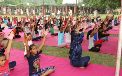4th International Yoga Day celebrated by NZCC on June 21, 2018.