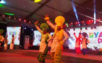 Day-4 of Paryatan Parv organised at Raj Path Lawns, New Delhi.