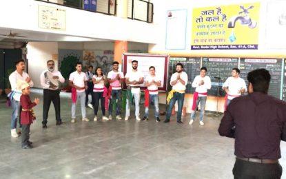 Nukkar Natak during Swachta Pakhwada at Govt. Model High School, Chandigarh
