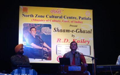 Sham-e-Gazal organised by NZCC at Chandigarh.