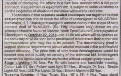 Short Term Tender Notice for Light & Sound