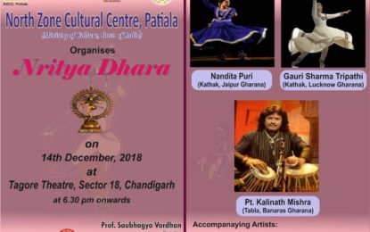 Nritya Dhara to be organised by NZCC at Chandigarh.