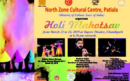 Holi Mahotsav to be organised by NZCC at Chandigarh.