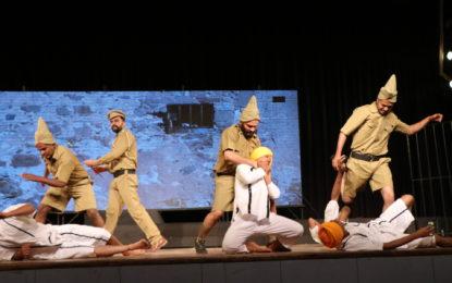 Play 'JallianWala Bagh' to celebrating of centenary commemoration of Jallianwala Bagh at Kalidasa Auditorium, Virsa Vihar Kendra, Patiala on April 11, 2019